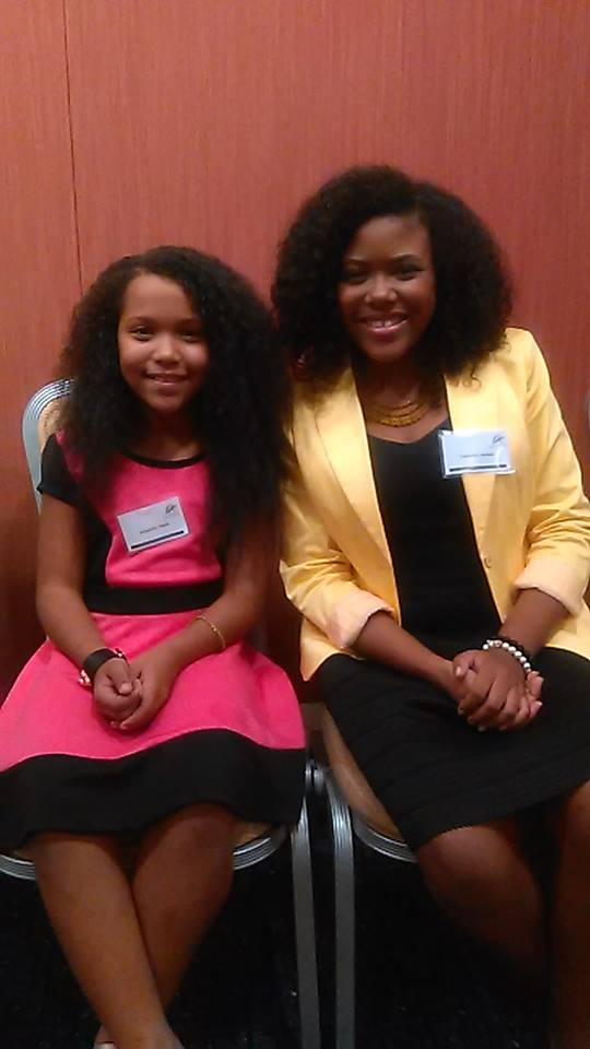 KidNewsMaker's Alejandra Stack and ExCEL's Gabrielle Jordan. Allie is a graduate and ambassador of Gabrielle's award-winning program