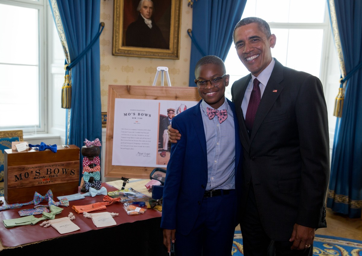 moziah bridges with barack hussein obama, 44th president of the united states