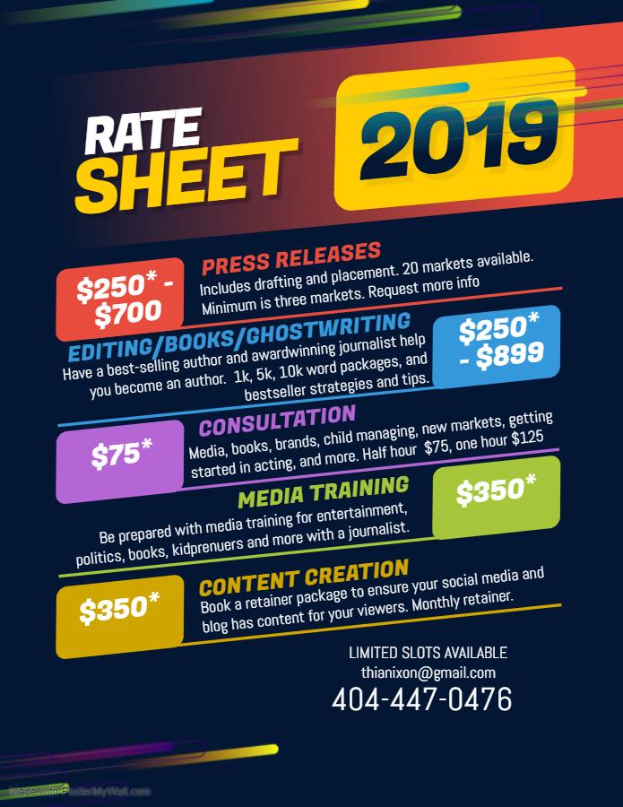 Arthia Nixon SERVICE RATES 2019